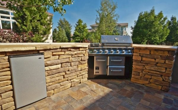 Outdoor kitchen in Colorado Springs as part of this outdoor living idea