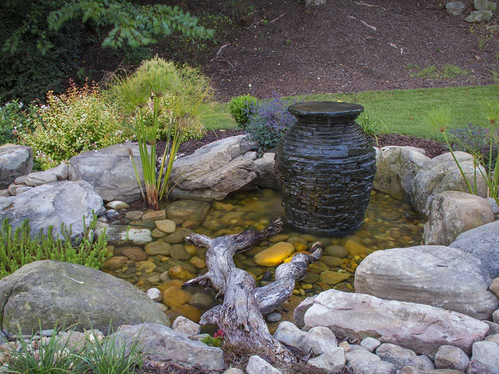 Stacked Slate urn in colorado springs
