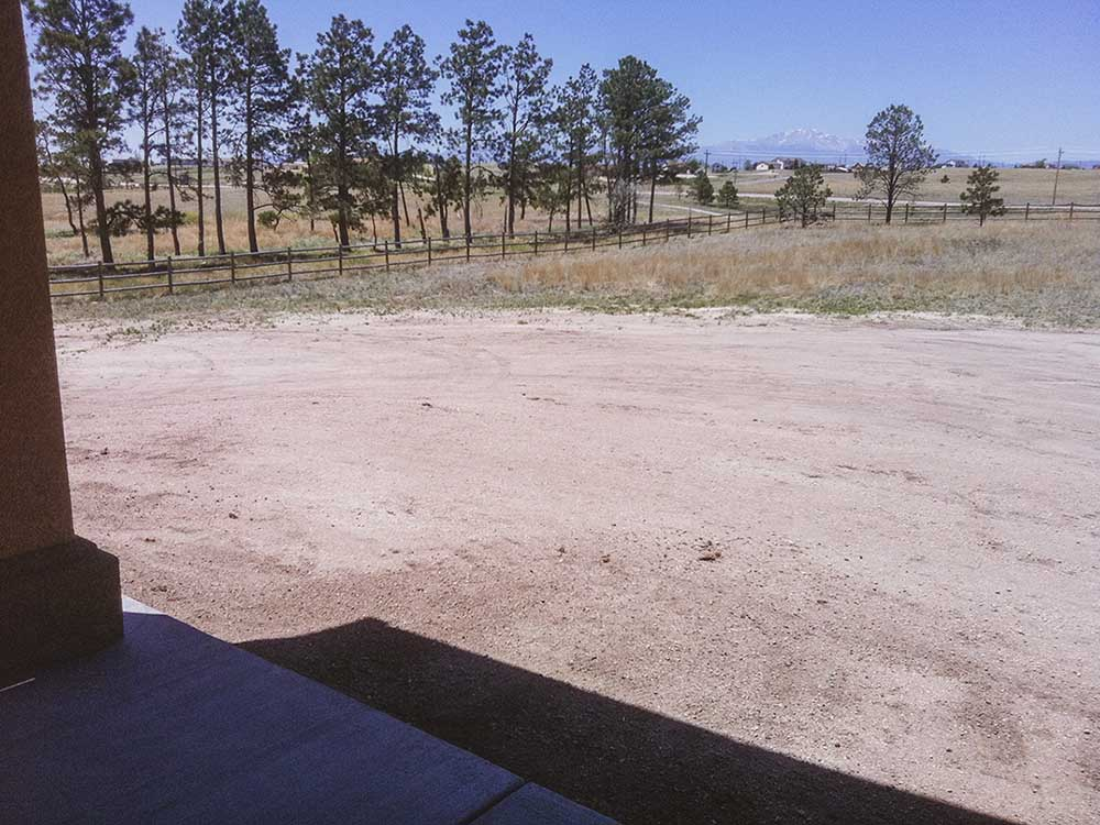 Outdoor Kitchen In Colorado Springs - Before