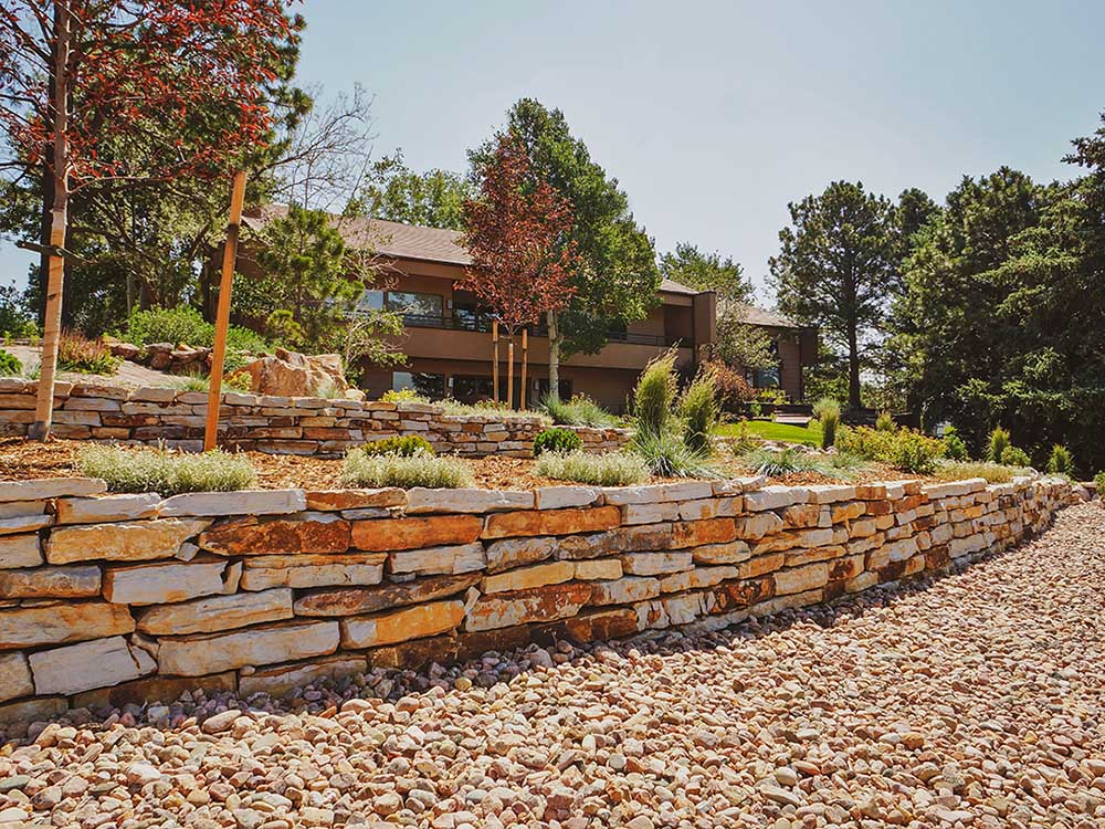 Retaining Wall Installation In Colorado Springs - After