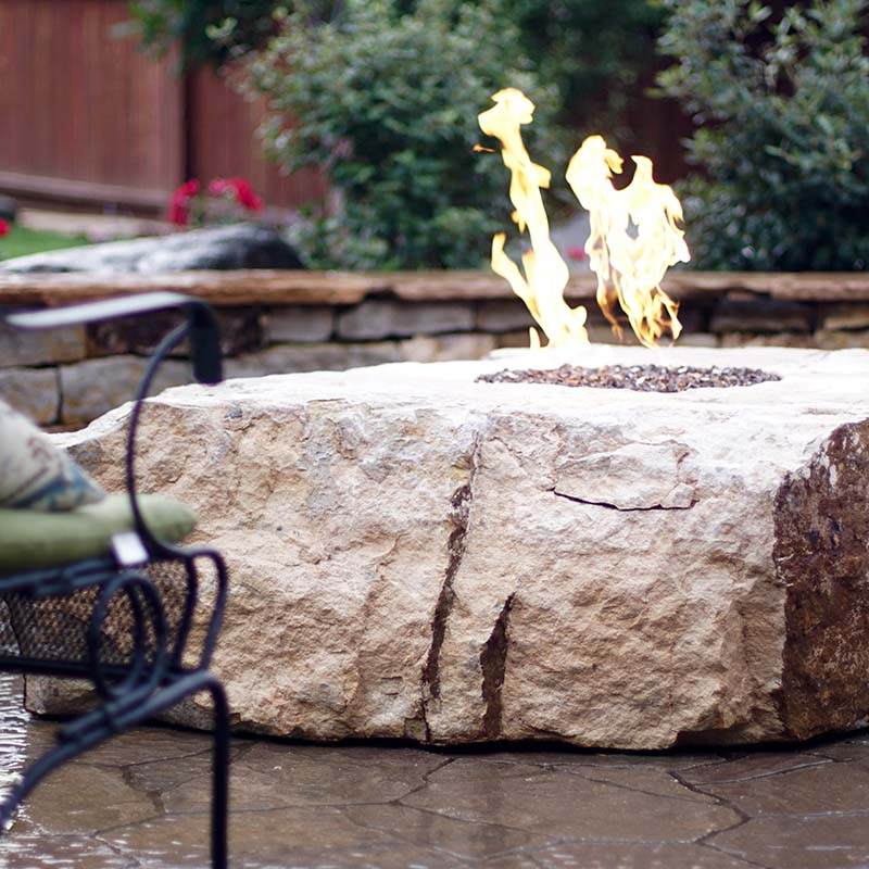 Unique Backyard Fireplace In Colorado Springs