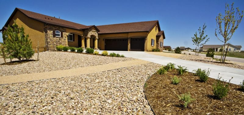 More front yard xeriscaping as part of this landscaping and outdoor living project in colorado springs