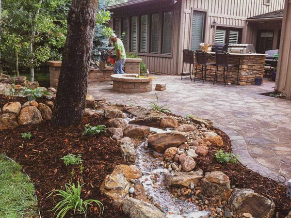 Stream and other outdoor living space ideas